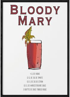 Bloody Mary, Cocktail Recipes, Cocktails, Mojito Cocktail, Alcohol, Party Drinks, Milkshake, Tequila, Food Porn