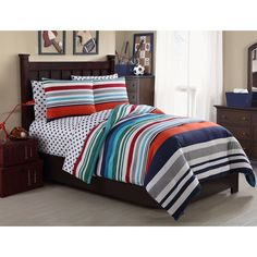 Vcny All Star 7-piece Bed in a Bag with Sheet Set