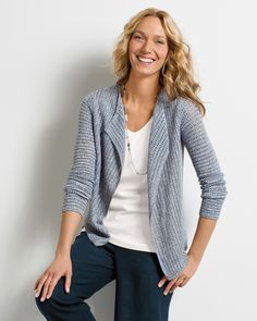 Soft mesh draped cardigan