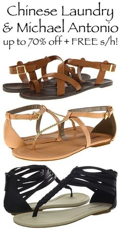 Chinese Laundry and Michael Antonio ~ up to 70% off + FREE Shipping!! #shoes #sandals