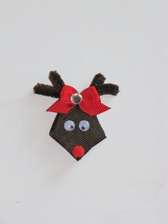 HOW TO: Make a Rudolph Reindeer Ribbon Sculpture for Christmas by Lala's Lovely Bowtique