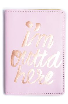 This super-cute pink and glimmering gold passport case is perfect for holding travel documents, tickets and cards.
