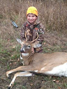Tanner's 1st Buck (4pt)  Tanner age 11, took his 1st Buck 11/16