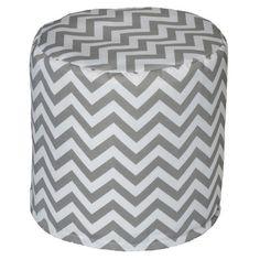 Chevron Bean Bag Ottoman Color: Grey - http://delanico.com/ottomans/chevron-bean-bag-ottoman-color-grey-588988034/