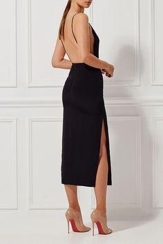 ALESSANDRA SILK DRESS EBONY - Dresses - Shop