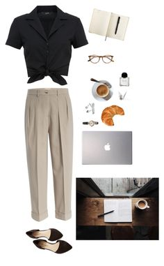 """Coffee House"" by ashleeanstead ❤ liked on Polyvore featuring Michael Kors, Samsung, Paul & Joe, Hallhuber and Byredo"