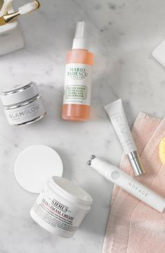 """Give your skin some love. Whether you come from the mindset of """"more is more"""" or """"less is more,"""" we've got your skincare needs covered from head-to-toe. Shop our faves from Glam Glow, Mario Badescu, Kiehl's and NuFace. Beauty Care, Beauty Skin, Health And Beauty, Beauty Hacks, Macy's Beauty, Face Care, Skin Care, Skin Serum, Makeup For Beginners"""