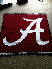 Ravelry: Alabama Crimson Tide 'A' (small) pattern by Jessica Davis