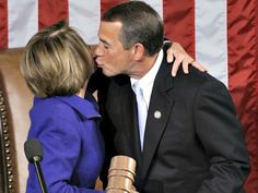 Picture of John Boehner kissing Nancy Pelosi... Proven: Boehner In Bed With Pelosi on Amnesty & Illegals given guns & badges  http://www.alipac.us/proven-boehner-bed-pelosi-amnesty-illegals-given-guns-badges-3539/
