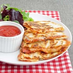 Pizza Quesadilllas! Great Idea And So Easy!