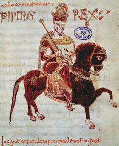 Equestrian portrait of Pepin (c.773-810) King of Italy, 1023.