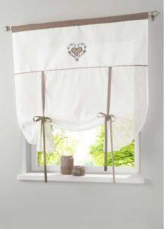 Guarda qui:Tenda semitrasparente con bel ricamo e coulisse. Misure = misure della stoffa (ca. altezza/larghezza). Lavabile e di facile cura.
