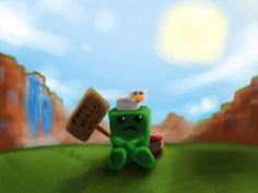 ihascupquake.com -Creeper Cube Wallpaper | Minecraft ...