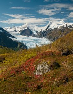 Portage Glacier Fall by Mark Yezbick, via Flickr