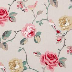 Clarke & Clarke's Studio G Rosetta Agatha Cotton Fabric - Autumn - The Millshop Online Harlequin Fabrics, Clarke And Clarke Fabric, Sanderson Fabric, Contemporary Fabric, Made To Measure Curtains, Autumn Art, Paradis, Floral Fabric, Cotton Fabric