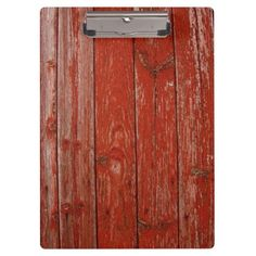 Old red wood clipboards