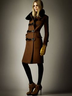 Burberry Pre-Fall 2012- Highly resembles a Mackage coat I bought in 2005!