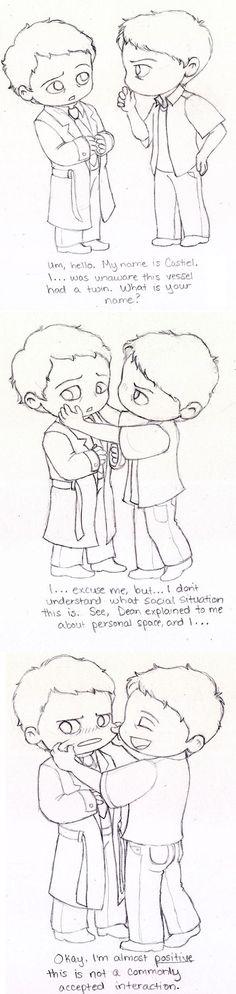 Castiel Meets Misha by Slashtastic on deviantART