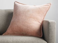 Stone Washed Velvet Square Pillow | Arhaus Furniture