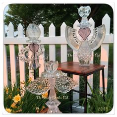 2015 Angels are here!  Purchase my art at Mkt.com/Meraki. Offered here first before they go to the website. I'm only making five each year. These are the first three. #TheGlassyGardenGal #OOAKbyGGG