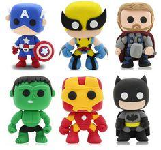 Marvel Los Vengadores DIY color arcilla Q súper héroe Batman Wolverine el aprendizaje y la educación de Figuras regalo de Navidad para el niño