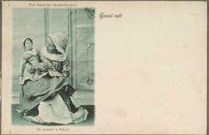 Zaandam Oud Zaanse Klederdrachten Groet uit Op moeders schoot. 1900-1920. Zaans Archief #NoordHolland #Zaanstreek