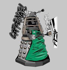 Barista Dalek  http://teecraze.com/caffeinate-t-shirt/