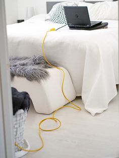 Beautiful yellow extension cord by Puik Art
