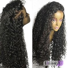 100% Brazilian Human Hair Wave Curly Lace Front Wigs Baby Hair Around Full Wigs