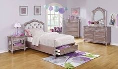 Coaster Furniture Caroline Twin 6 Piece Kids Bedroom Set in Metallic Furniture, Headboards For Beds, Twin Size Bedding, Storage Bed, Fine Furniture, Bedroom Set, Youth Bedroom, Coaster Fine Furniture, Furniture Design