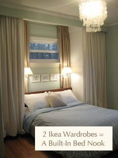 Ikea wardrobe hack to gain two extra closets & make a cozy bed book