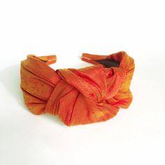 Headbands for women flame orange Pure silk top knot adult headband woman head bands hairbands silk hair scarf silk hair band turban Dupioni Silk Fabric, Silk Hair, Pixie Styles, Turban Headbands, Headbands For Women, Scarf Hairstyles, Silk Thread, Top Knot, Pure Silk