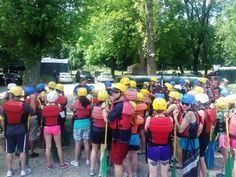 Alyson gives an exciting safety briefing before the fun beings!