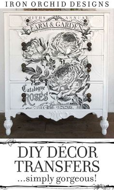 Are you looking for a way to jazz up your furniture and walls? Then you need to give these Decor Transfers from Iron Orchid Designs a try! The easiest way to transform that plain dresser or wall and give it that wow factor.  #DIY #DecorTransfers