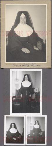Lot-of-4-Vintage-Photos-Pretty-Girl-Catholic-Nun-Sister-Mary-William-748049