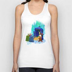 The Doctor who Tales Unisex Tank Top #TankTop #tshirt #tee #clothing #tales #coin #dalek #mickeymouse #donaldduck #cat #mouse #doctorwho #davidtennant #10th #fog #mist #tardis #whovian #mashup #timelord #timetravel