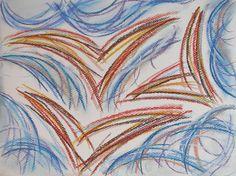Birds #art #pastels #drawing #finland #nature #bird #fly #clouds