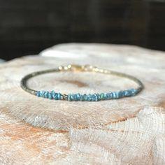 Rough/Raw Blue/Green Diamond Bracelet #jewelry #bracelet #diamond