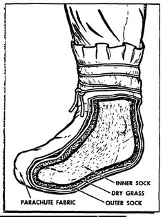 Improvised Footwear to Keep Your Feet Warm and Dry  http://preparednessadvice.com/survival/improvised-footwear-to-keep-your-feet-warm-and-dry/#.VjpSorerRD8