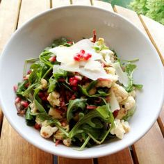 Cauliflower Pomegranate Salad - 40 Easy Recipes Under 400 Calories - Shape Magazine - Page 11