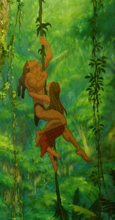 Tarzan and Jane in the jungle, let me hang on you Tarzan, hold me tigh