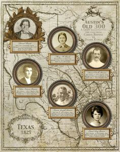 Genealogy chart tracing ancestry back to an Austin´s Old 300 from http://www.etsy.com/shop/CreativeFamilyTree