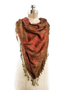 b0f6a35ad Bhayana Reversible Cashmere Silk Pashmina Scarf, hand made in India