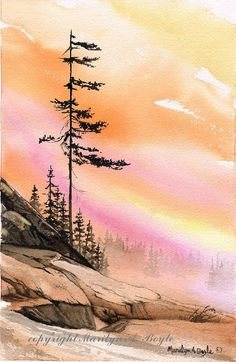 SOLD- ORIGINAL WATERCOLOR PAINTING: scene by OriginalSandMore on Etsy
