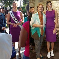 Iris Mittenaere Miss Universo 2017 ya llegó a Ecuador. Se encuentra en Guayaquil antes de su traslado a Machala.