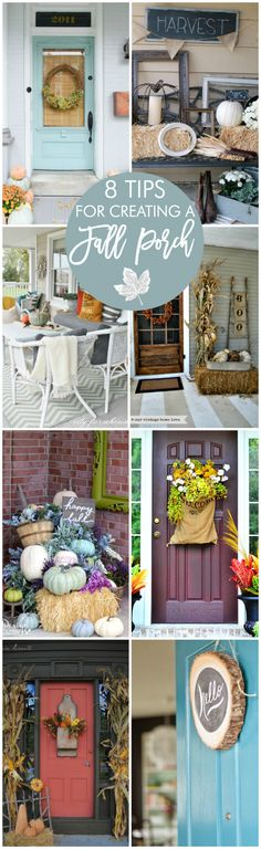 Great tips for decorating a fall porch.