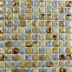 Collection: Porcelain Mosaic Tiles; Material: Porcelain; Shape: Square; Color: Blue and Yellow; Size: 300 x 300 x 4 mm; Chip Size: 25 x 25 mmMosaic Tiles specializes in quality handcrafted porcelain mosaic tiles that add excitement to your pool, home, and outdoor area. They are composed of colored porcelain tiles of different shapes and sizes arranged to form lifelike images.Each sheet of the porcelain mosaic tile is approximately 1 sq ft per sheet and is mesh mounted for easy installation… Glass Tile Backsplash, Glass Mosaic Tiles, Stone Mosaic, Kitchen Backsplash, Mosaic Art, Mosaics, Mosaic Tile Designs, Tile Projects, Porcelain Tiles