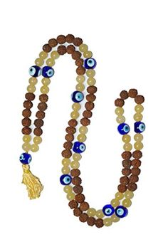 YOGA JEWELRY Mala Beads108 1 Rudraksha CITRINE PROTECTION INTELLECT -- Continue to the product at the image link.