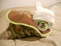 Camoflauge Diaper baby cake Its a Boy by debbietennison1 on Etsy, $18.00