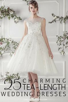 25 Utterly Gorgeous Tea Length and Short Wedding Dresses